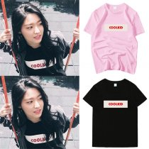 ALLKPOPER Kpop AOA Kim Seol Hyun T-shirt 2017 New Fashion Tshirt Casual Cotton Tee