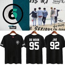 ALLKPOPER Kpop Day6 T-shirt 1st Album SUNRISE Young K Tshirt Dowoon Cotton Jae Short Tee