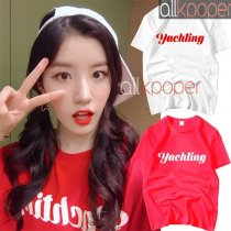 ALLKPOPER  KPOP Pristin Park Si Yeon T-shirt Selfie Tshirt 2017 New Casual Letter Tee Tops
