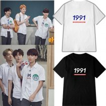 ALLKPOPER KPOP EXO BAEKHYUN T-shirt Game program The same paragraph Tshirt Letter Tee Tops