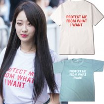 ALLKPOPER KPOP Nine Muses Park Gyeong Lee T-shirt Fans Meeting Tshirt 2017 New Letter Casual Tops