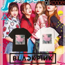 ALLKPOPER KPOP BLACK PINK T-shirt JISOO JENNIE Rose LISA Concert Tshirt 2017 New Casual Tops