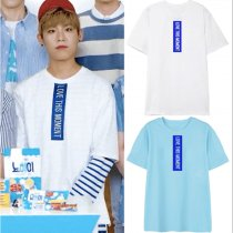 ALLKPOPER KPOP WANNA ONE Park Woo-Jin T-shirt Program Same Paragraph Tshirt Tee Tops