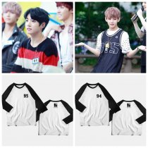 ALLKPOPER KPOP-BTS-Raglan-Sleeve-Sweater-Three-quarter-Hoody-Bangtan-Boys-Wings-Tops