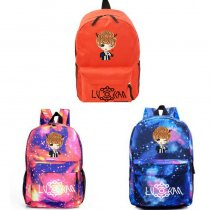 ALLKPOPER Kpop EXO Luhan Backpack Street Shooting Bag Cartoon Bookbag Student Back to School Planet RUNNING MAN