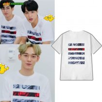ALLKPOPER KPOP EXO T-shirt Program The same paragraph Tshirt Casual Tee Tops CHANYEOL BAEKHYUN CHEN KAI SEHUN