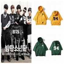 ALLKPOPER KPOP BTS Raglan Sleeve Cap T-shirt Three-quarter Sleeve Bangtan Boys Wings Tops