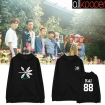 ALLKPOPER KPOP EXO Cap Hoodie THE WAR Hoody Pollover Sweatershirt Sweater 2017 New XIUMIN CHEN KAI