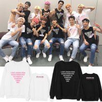 ALLKPOPER KPOP SEVENTEEN Sweater Concert Hoodie Hoody Casual Pollover Sweatershirt letter DIAMOND EDGE Tops DK S.COUPS WOOZI