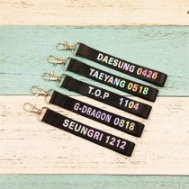 ALLKPOPER KPOP Bigbang Keychain G-Dragon GD TOP Laser Lanyard Name Cellphone Keyring New