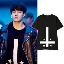 ALLKPOPER KPOP GOT7 Jackson T-shirt Street Shooting Tshirt 2017 NEW Casual Summer TeeTops