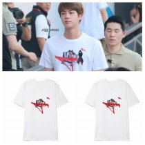 ALLKPOPER KPOP BTS JIN T-shirt Wings Bangtan Boys Airport Fashion Tshirt Casual Letter Tee Tops