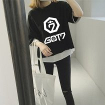 ALLKPOPER KPOP GOT7 T-shirt Concert Tshirt Fake Two Pieces Tee JACKSON JB JR