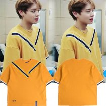 ALLKPOPER KPOP Wanna One PARK JI HOON T-shirt Long Tshirt Fansion Tee Tops