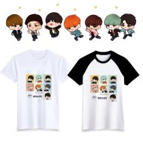 ALLKPOPER KPOP BTS Cartoon T-shirt Bangtan Boys Tshirt Love Yourself Letter Tee  V SUGA