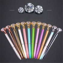 ALLKPOPER Xmas Metal Diamond Head Crystal Ball Pen Concert Pen Creative Stationery Gift