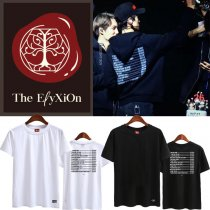 ALLKPOPER KPOP EXO T-Shirt The EℓyXiOn Tshirt LAY Letter Tee CHANYEOL SEHUN BAEKHYUN