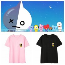 ALLKPOPER KPOP BTS BT21 T-shirt Bangtan Boys Tshirt Love Yourself Casual Tops Cooky Koya