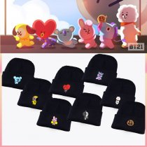 ALLKPOPER KPOP BTS Beanie Hat Bangtan Boys Knit Cap BT21 Love Yourself SHOOKY COOKY KOYA