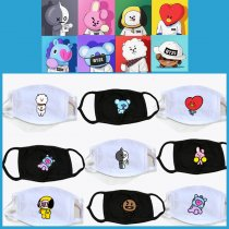 ALLKPOPER KPOP BTS Mouth Mask Bangtan Boys Face Respirator Muffle BT21 Love Yourself TATA