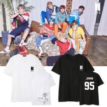 ALLKPOPER KPOP BTS T-shirt Bangtan Boys Thirt Love Yourself Casual Tops RAP MONSTER