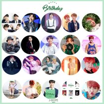 ALLKPOPER KPOP BTS JHOPE Chest Pin Birthday Badge Brooch Bangtan Boys Korean Singers Goods
