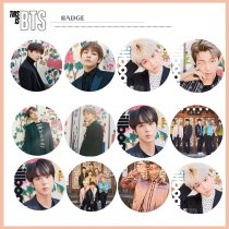 ALLKPOPER KPOP BTS Chest Pin Magazine This is BTS Badge Brooch Bangtan Boys JIMIN SUGA