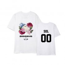 KPOP BIGBANG T-Shirt Flower Road Ablum Tshirt G-DRAGON Name Letter Tee Casual