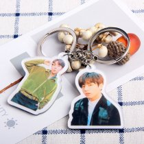 KPOP BTS Keyring Bangtan Boys Key Chain Love Yourself Acrylic Pendant SUGA V JIN
