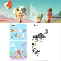 K-pop BTS Phone Case Bangtan Boys V SUGA Face Yourself Cute Cartoon for Apple Iphone 8 7 PLUS X 10 7PLUS 8PLUS BTS Accessories