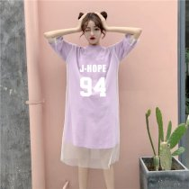 Kpop BTS Dress Jungkook V Summer Dress Fake Love Purple Plus Size Dress Women