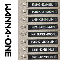 KPOP WANNA ONE Key Chain Laser Lanyard Name Cellphone Holder Strap Keyring