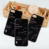KPOP BTS Phone Case Love Yourself Bangtan Boys V Tempered Glass Cellphone Cover