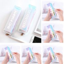 KPOP BTS Pencil Case Monsta X Hologram Holographic Laser Bag EXO GOT7 Makeup Bag