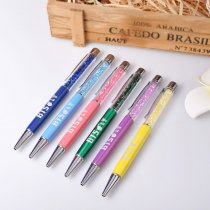 KPOP BTS Pen Multi-color Metal Head Crystal JIMIN SUGA V Gift Ball Point Pens