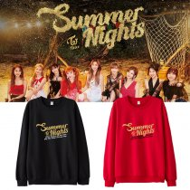 KPOP TWICE Sweater Summer Nights Sweatershirt MINA Tzyu Casual Letter Hoodie