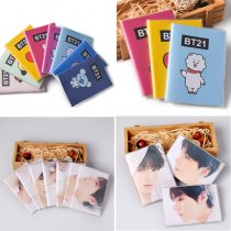 Kpop BTS Portable Notebook Paper Notepad V SUGA JIN Memo Diary Exercise Book