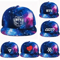 Kpop BTS Baseball Cap Adjustable Starry Sky Snapback Wanna One Hat GOT7 Monsta X