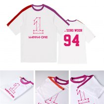 K-POP Wanna One T-shirt Splice Tshirt Lee Dae Hwi Kang Daniel Tee (Lai Kuan Lin)