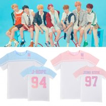 K-POP BTS T-shirt Bangtan Boys Love Yourself Gradient Color Tshirt Suga V JIMIN Tee