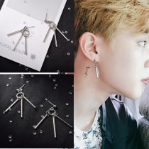 2pcs Kpop BTS Jimin Earrings Bangtan Boys Tassel Long Chain Earring Jewelry