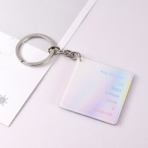 KPOP BTS Keyring Bangtan Boys Laser Key Chain Love Yourself 结 'Answer' Acrylic Pendant SUGA V JIN