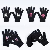 ALLKPOPER KPOP BTS Gloves EXO TWICE Monsta X Seventeen Wanna One Finger Warm Gloves Winter