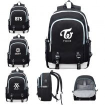 ALLKPOPER KPOP BTS Schoolbag MONSTA X USB Charging Backpack EXO SEVENTEEN TWICE WANNA ONE