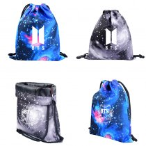 ALLKPOPER KPOP BTS Backpack SUGA V JUNG KOOK RM Starry Sky Schoolbag Satchel Shoulder Bag