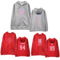 ALLKPOPER KPOP BTS Off-the-shoulder Hooded Sweater V SUGA JIMIN Bangtan Boys Sweatshirt