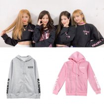 ALLKPOPER KPOP BLACKPINK Zipper Hoodie sweater JENNIE JISOO LISA Hooded Sweatshirt ROSE