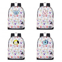 ALLKPOPER BTS Schoolbag CHIMMY COOKY KOYA MANG RJ SHOOKY BT21 Backpack TATA VAN