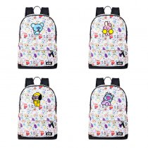 ALLKPOPER BTS Schoolbag CHIMMY COOKY KOYA MANG RJ TATA Backpack Travel bag SHOOKY