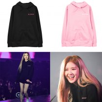 ALLKPOPER KPOP Blackpink Sweatshirt JENNIE JISOO LISA ROSE Hooded Sweater Plush sweater